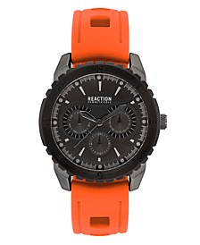 Men's Orange Silicon Strap Sport Watch, 45.5mm
