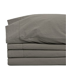 Jennifer Adams Relaxed Cotton Percale Twin Sheet Set