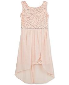 Big Girls Plus Sequin Lace Walk-Through Dress