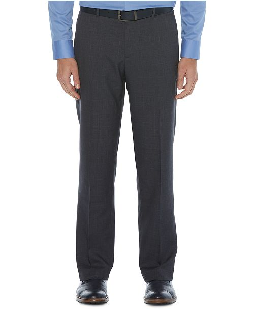 Perry Ellis Portfolio Men's Modern-Fit Non-Iron Performance Stretch Plaid Dress Pants