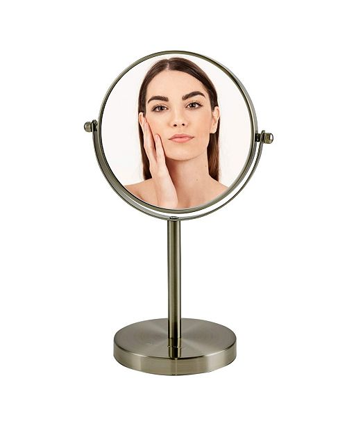 """OVENTE 6"""" Dual Sided Tabletop Makeup Mirror with LED"""