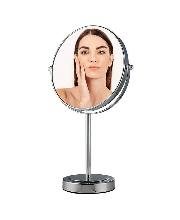 """OVENTE 8"""" Dual Sided Tabletop Magnified Vanity Makeup Mirror"""