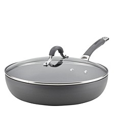 "Radiance Hard-Anodized Nonstick 12"" Covered Deep Skillet"