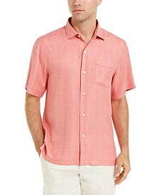 Men's Classic-Fit Traveling Geo Silk Shirt