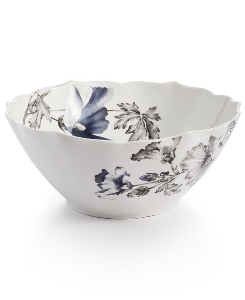 Hotel Collection Classic Morning Glory Vegetable Bowl, Created For Macy's