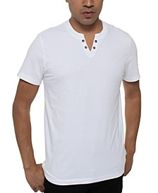 Men's Eyelet Henley T-Shirt