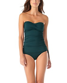 Twist Front Tankini Top & Side-Tie Bottoms