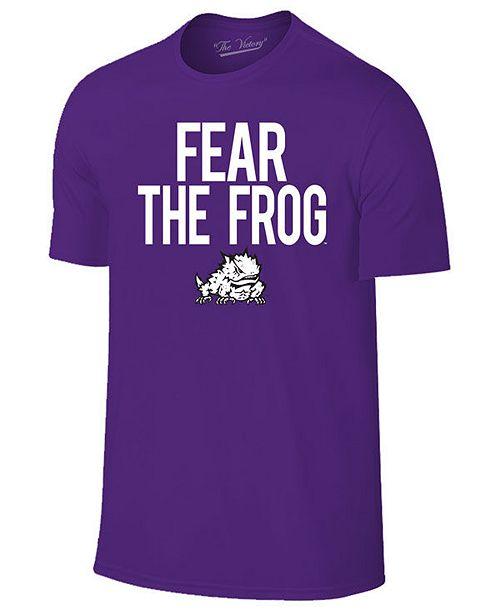 Retro Brand Men's Texas Christian Horned Frogs Slogan T-Shirt