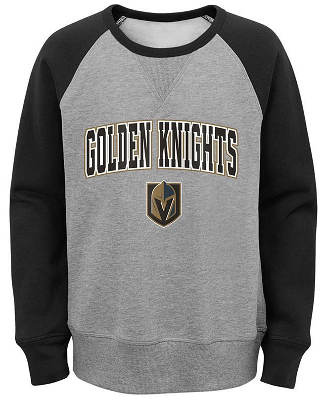 Outerstuff Big Boys Vegas Golden Knights Chief Crewneck Sweatshirt