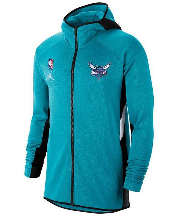 Nike Men's Charlotte Hornets Thermaflex Showtime Full-Zip Hoodie
