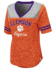 Women's Clemson Tigers Mr Big V-neck T-Shirt