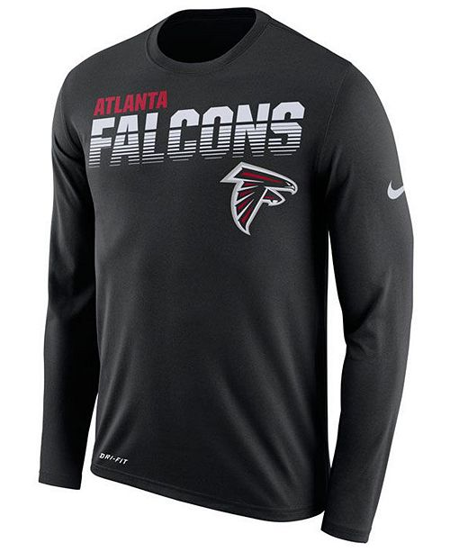 Nike Men's Atlanta Falcons Sideline Legend Line of Scrimmage Long Sleeve T-Shirt