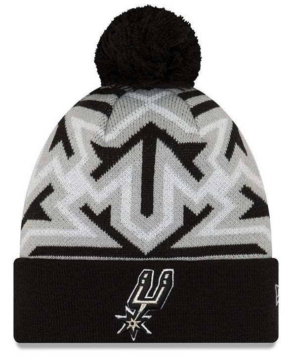 New Era San Antonio Spurs Big Flake Pom Knit Hat