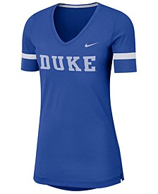 Women's Duke Blue Devils Fan V-Neck T-Shirt