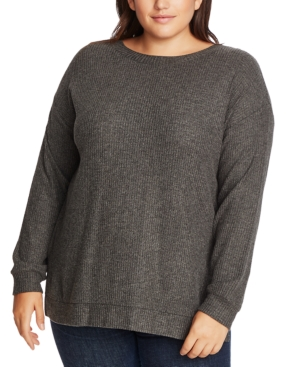 1.state Sweaters TRENDY PLUS SIZE CRISSCROSS-BACK SWEATER