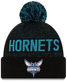 Charlotte Hornets Blackout Speckle Knit Hat