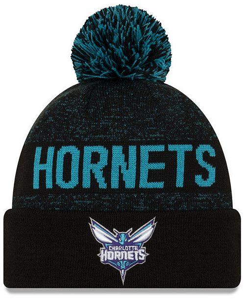New Era Charlotte Hornets Blackout Speckle Knit Hat