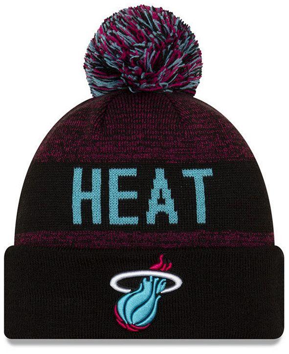 New Era Miami Heat Blackout Speckle Knit Hat