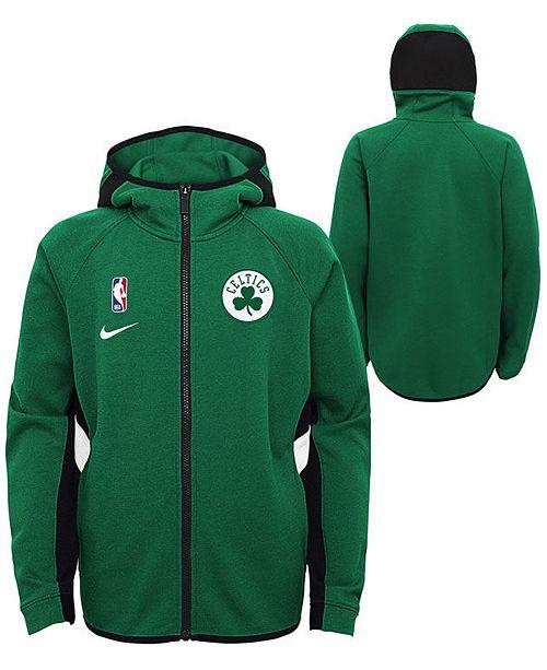 Nike Big Boys Boston Celtics Showtime Hooded Jacket