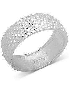 Basket Weave Textured Bangle Bracelet