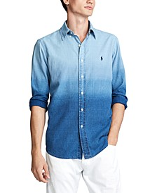 Men's Big & Tall Classic Fit Dip-Dyed Shirt