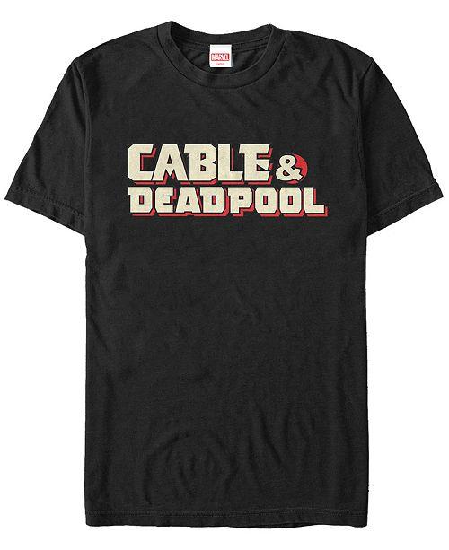 Marvel Men's Cable Deadpool Text Logo, Short Sleeve T-Shirt