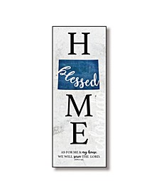 "Colorado Home-Blessed Wood Wall Plaque with Hanger, 5.5"" x 12"""