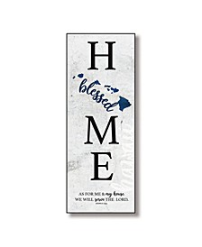 "Hawaii Home-Blessed Wood Wall Plaque with Hanger, 5.5"" x 12"""