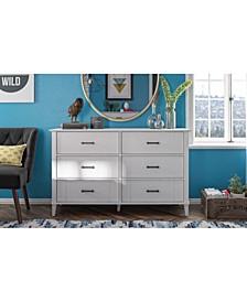 Novogratz Hazelridge 6 Drawer Dresser