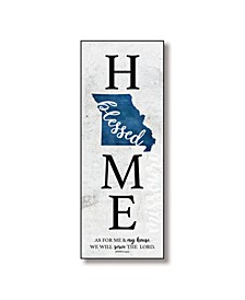 "Missouri Home-Blessed Wood Wall Plaque with Hanger, 5.5"" x 12"""