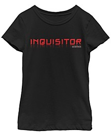 Big Girls Jedi Fallen Order inquisitor Short Sleeve T-Shirt