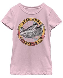 Big Girls Millennium Falcon Galaxy Tour Short Sleeve T-Shirt