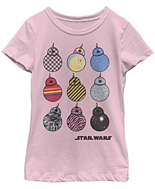 Big Girls BB-8 Wild Prints Short Sleeve T-Shirt