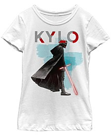 Big Girls Kylo Ren Red Lightsaber Short Sleeve T-Shirt
