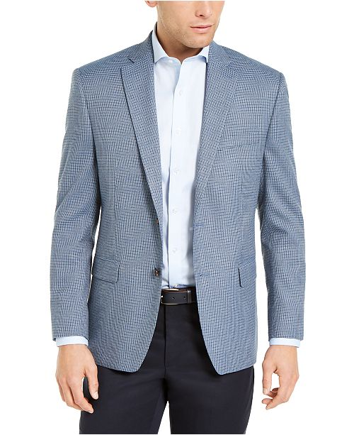 Lauren Ralph Lauren Men's Classic-Fit UltraFlex Light Blue Houndstooth Sport Coat