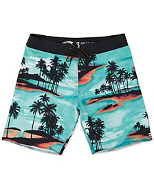 "Men's Sundays Airlite Performance Micro Repel Tropical-Print 19"" Board Shorts"
