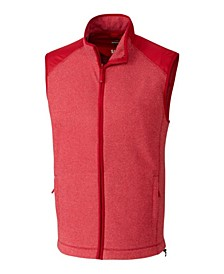 Cutter and Buck Men's Big and Tall Cedar Park Full Zip Vest