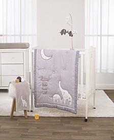 Nojo Dream Big Little Elephant 3-Piece Mini Crib Bedding Set