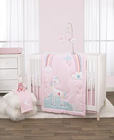 Rainbow Unicorn 3-Piece Crib Bedding Set
