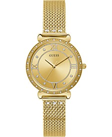 Women's Gold-Tone Stainless Steel Mesh Bracelet Watch 34mm