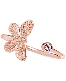 Crystal Butterfly Cuff Ring