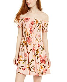 Juniors' Off-Shoulder Dress