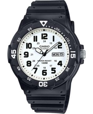 Men's Black Resin Strap Watch 43mm