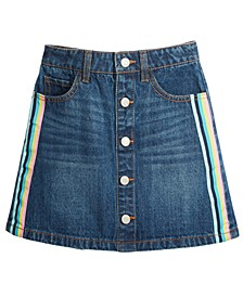 Big Girls Cotton Striped Denim Skirt, Created For Macy's