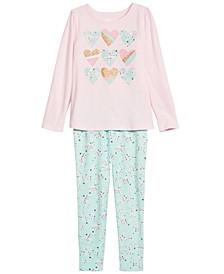 Toddler & Little Girls Heart T-Shirt & Leggings, Created For Macy's