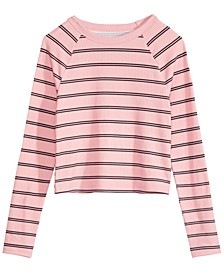 Big Girls Striped Top, Created For Macy's