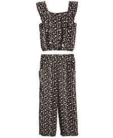 Big Girls 2-Pc. Floral-Print Top & Pants Set, Created for Macy's