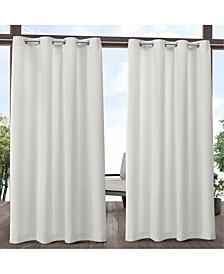 Delano Heavyweight Textured Indoor/Outdoor Grommet Top Curtain Panel Pair