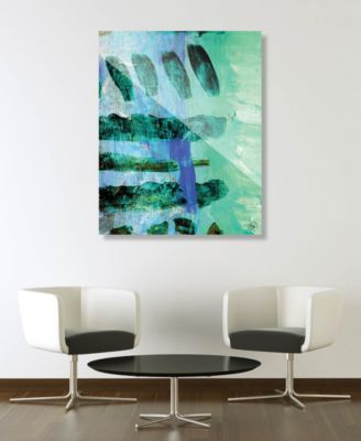 "Kouara in Green Abstract 24"" x 36"" Acrylic Wall Art Print"