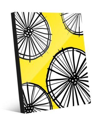 "Lemonade Wheel Graphic Abstract 20"" x 24"" Acrylic Wall Art Print"